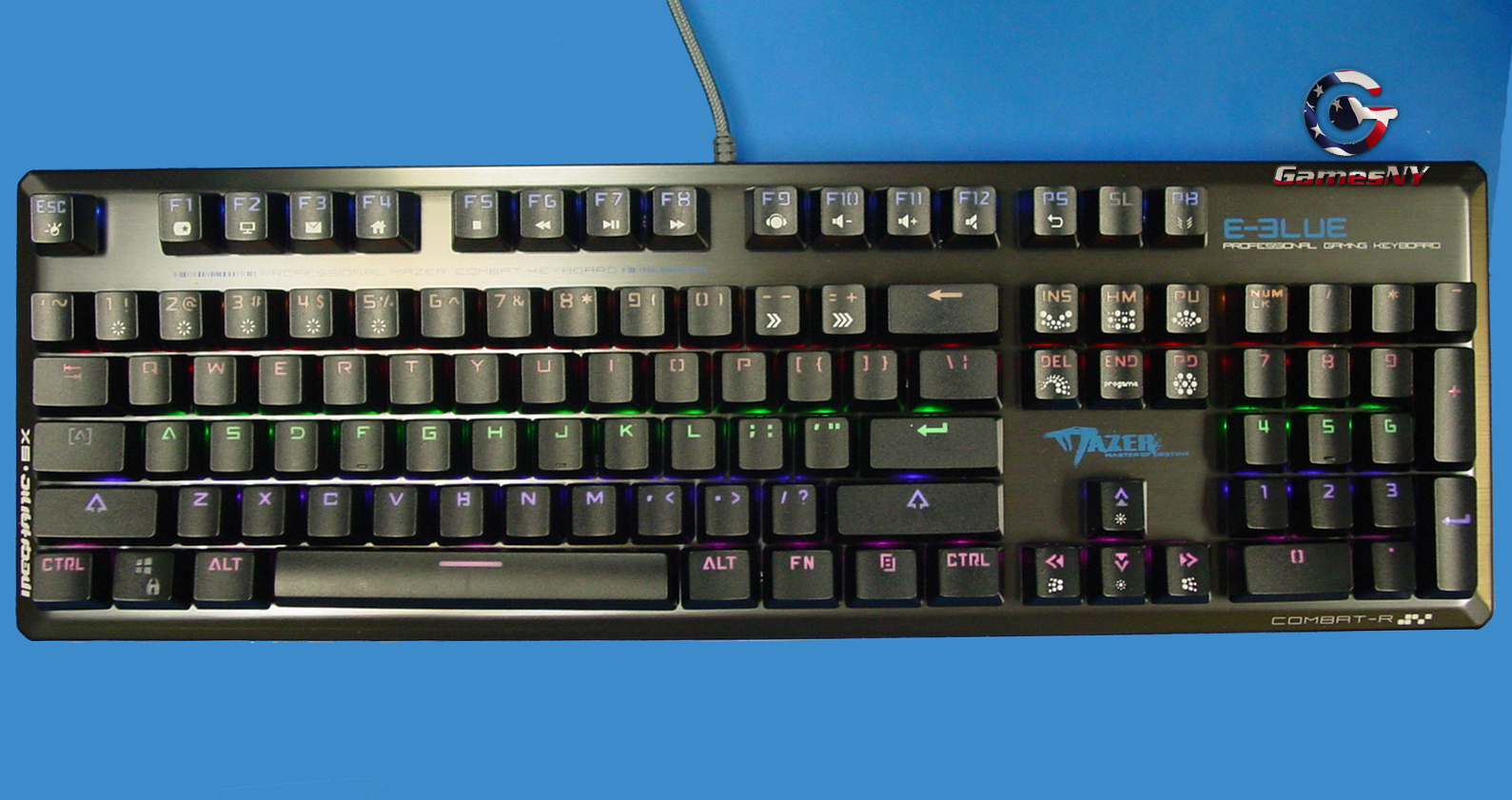 E-Blue EKM737 MAZER FPS Metal Mechanic Multi-Color Key Gaming Keyboard