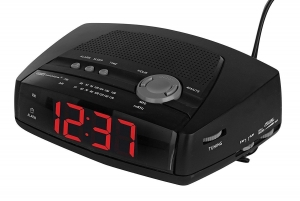 Living Solutions Am/Fm Alarm Clock Radio