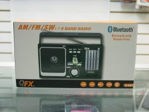 QFX R-6BT AM/FM/SW1-7 9 Band Radio +USB Blutooth with Hands-Free