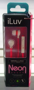 iLuv IEP336WPKN Neon Sound Earbuds Compatible With iPhone And Most Android Devices (PINK)