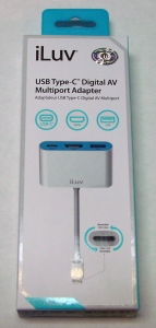 iLuv iCB713WH USB Type-C Digital AV Multiport Adapter