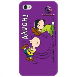 iLuv iCP751CPUR Peanuts Character Case for iPhone 4/4S