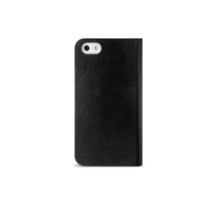 iLuv iCA7J343BLK Diary Genuine Leather Case with Pocket for iPhone 5