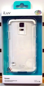 iLuv SS5VYNEWH Vyneer Dual material protection case for Galaxy S5 White