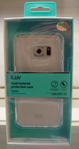 iLuv SS7VYNECL Vyneer White Dual material protection case for GALAXY S7