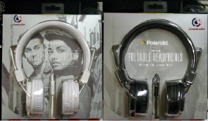 Polaroid Studio Headphone Foldable With Organic Fabric Cord (White; Black)