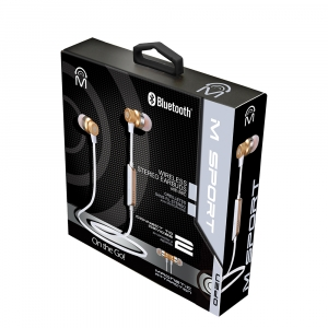 Magnetic Metal Bluetooth Earbuds with Mic.