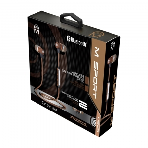 The Mic Allows you to Pause, Play, Skip Forward Track, Back Track, Answer/End calls.  The M-Sport earbuds can connects to 2 devices simultaneously!  Sound perfection In-line remote with MIC Manages phone calls and music tracks Color: Gold, White Metal cas