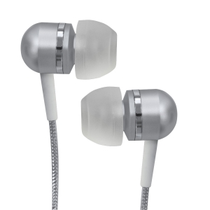 716829207901, Silver high-performance isolation stereo earphones