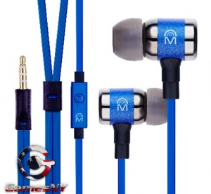 Mental Beats ICON fidelity earbuds with mic BLUE