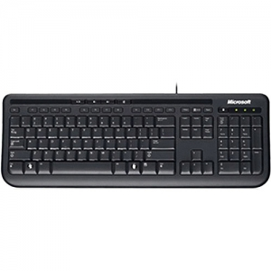 882224741590, Microsoft Wired Keyboard 600 (Black)