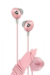 639247131330, Pink hi-fi in-ear earphones with wire reel and in-line volume control