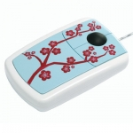 4260066571104, Pat Says Now - Designer Computer Mouse - Cherry Blossom Blue