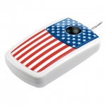 Pat Says Now - Designer Computer Mouse - USA Flag