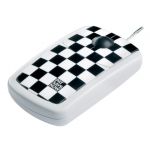 4260066571203, Pat Says Now - Designer Computer Mouse -  Checkerd Flag