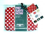 "Pat Says Now Red Polka Dot Sleeve 8.9""-11.6"" Device Sizes Original"