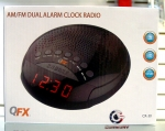 QFX CR-30 AM/FM Dual Alarm Clock Radio