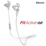 iLUV FitActive Air Tangle-Free Stereo Sports Bluetooth Earbuds Mic& Remote WHITE