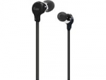 639247132863, Black comfort earphones with flat-wire