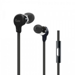 639247134300, Black premium hands-free earphones designed for smartphones