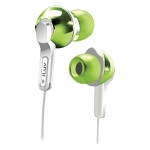 639247135307, Green in-ear headphones with super-bass