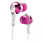 639247135321, Pink in-ear headphones with super-bass