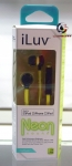 iLuv IEP335GRNN Neon Sound Earbuds for iPod iPhone iPad (Green) ORIGINAL!