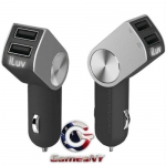 iLuv iAD610BLK DualPin, Dual USB Car Charger for iPad/iPhone/iPod