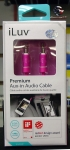 iLuv ICB110PNK Premium Aux-in Audio Cable (3ft) PINK