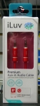 iLuv ICB110RED Premium Aux-in Audio Cable (3ft) RED