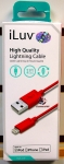 iLuv ICB263RED High Quality Lightning Cable