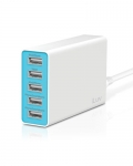 iLuv RockWall 5 Compact five-port USB wall charger for all iPhone, all iPad