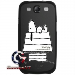 iLuv Snoopy Character Series Hard-shell for Galaxy S3 ISS254SBLK