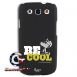 iLuv iSS256BCBLK Black Snoopy Behavior Series Hardshell Case for Samsung galaxy S III