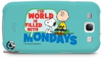 Luv iCP755MWBLU Peanuts Graphic Case for iPhone 4/4S (Charlie Brown Mondays)