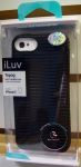 iLuv ICA7T324BLK Black Topog Soft Flexible Case for iPhone 5