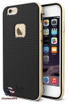 iLuv iPhone 6 Plus Metal Forge Protective Case w/ Gold Aluminum Frame AI6PMETFGD