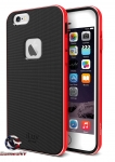 iLuv iPhone 6 Plus Metal Forge Protective Case w/ Red Aluminum Frame AI6PMETFRE