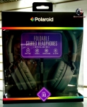 Polaroid PHP140 Foldable stereo headphones with inline mic PHP140BK gray