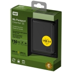 718037771526, Black Western Digital My Passport Essential SE 750 GB