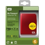 718037772752, Red Western Digital My Passport Essential SE 750 GB