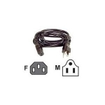 722868215951, 20ft iec c13 to nema 5-15 univrepl power cord ac m