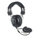734680610029, Deluxe stereo leatherette headphones with mono volume control