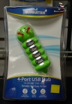 Manhattan 4-port USB hub PC/MAC campatible (caterpillar)