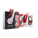 ICONQ Flare Bass Bi-Fold Headphones with Mic (Black; White; Red)