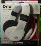Mental Beats Pro HeadPhones with mic Extra Bass Xpert (White)