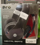 Mental Beats Pro HeadPhones with mic Extra Bass Xpert (Black)