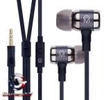Mental Beats ICON fidelity earbuds with mic BLACK