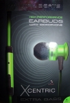 Mental Beats Xcentric High Performance Earbuds With Microphone extra bass (Green)