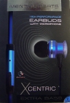 Mental Beats Xcentric High Performance Earbuds With Microphone extra bass (Blue)